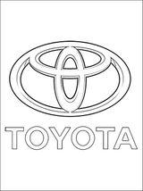 Imprimer le coloriage : Toyota, numéro 449924