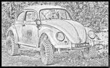 Imprimer le coloriage : Volkswagen, numéro 105374