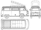 Imprimer le coloriage : Volkswagen, numéro 105382