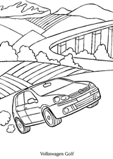 Imprimer le coloriage : Volkswagen, numéro 105386