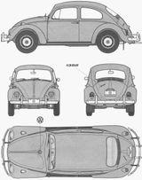 Imprimer le coloriage : Volkswagen, numéro 105391