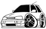 Imprimer le coloriage : Volkswagen, numéro 114575