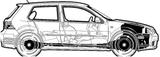 Imprimer le coloriage : Volkswagen, numéro 162849