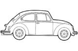 Imprimer le coloriage : Volkswagen, numéro 390901