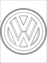 Imprimer le coloriage : Volkswagen, numéro 452444