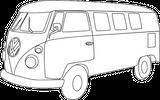 Imprimer le coloriage : Volkswagen, numéro 758379